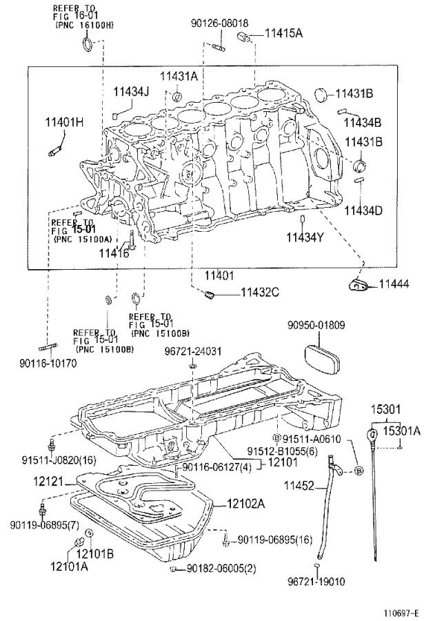 Lexus GS 400 Pan sub-assembly, oil, no. 2 - 1210250070 ...