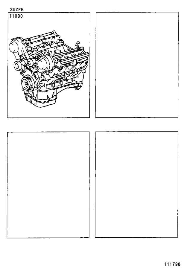 Lexus Ls 430 Engine Assembly  Partial