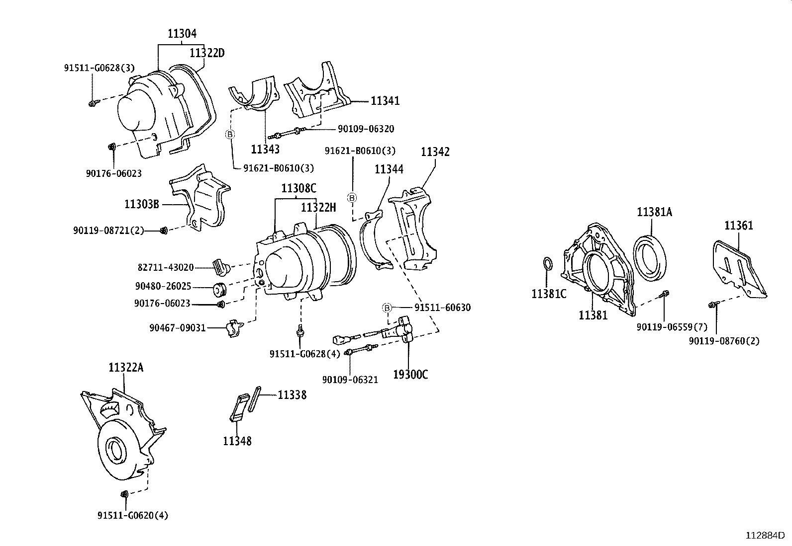 Lexus Ls 430 Engine Timing Cover