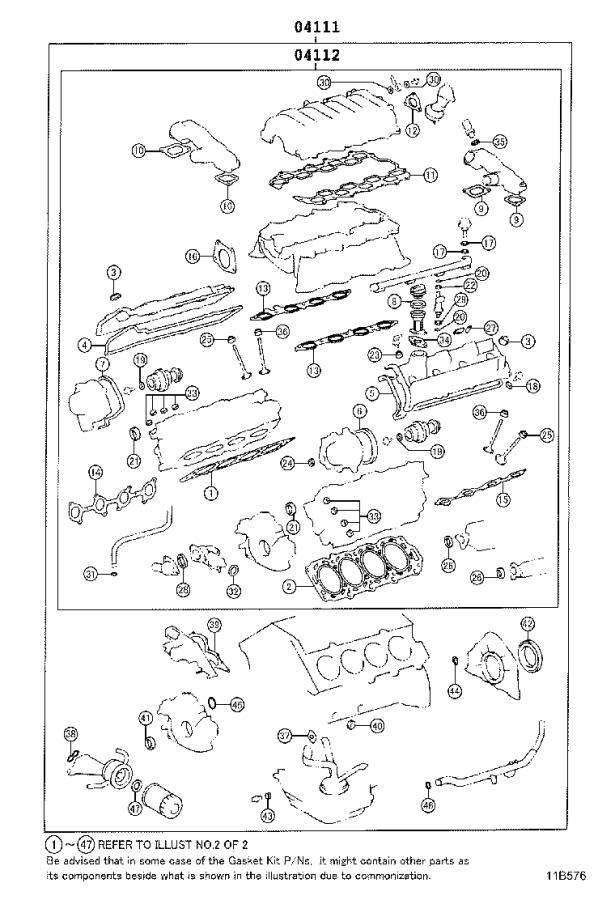 Lexus Ls 430 Gasket Kit  Engine Valve Grind