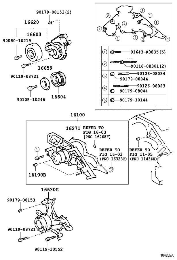 Lexus Ls 430 Engine Water Pump  Main Engine Water Pump