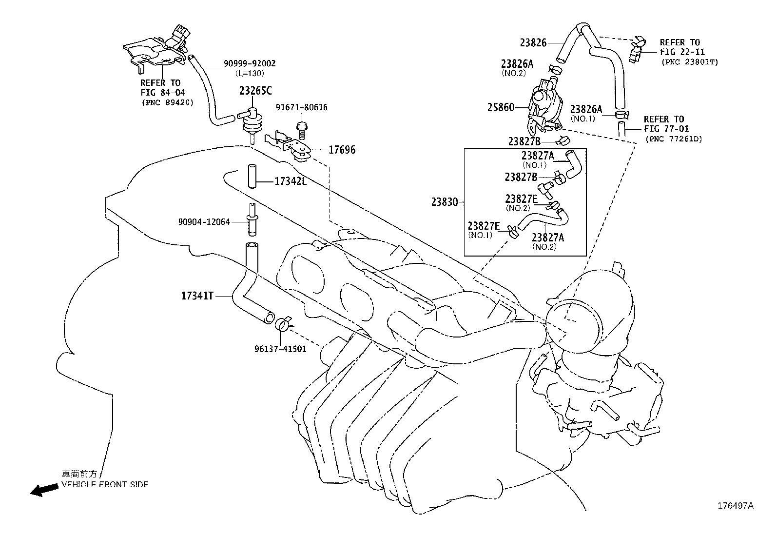 Lexus Hs 250h Evaporative Emissions System Leak Detection Pump Filter