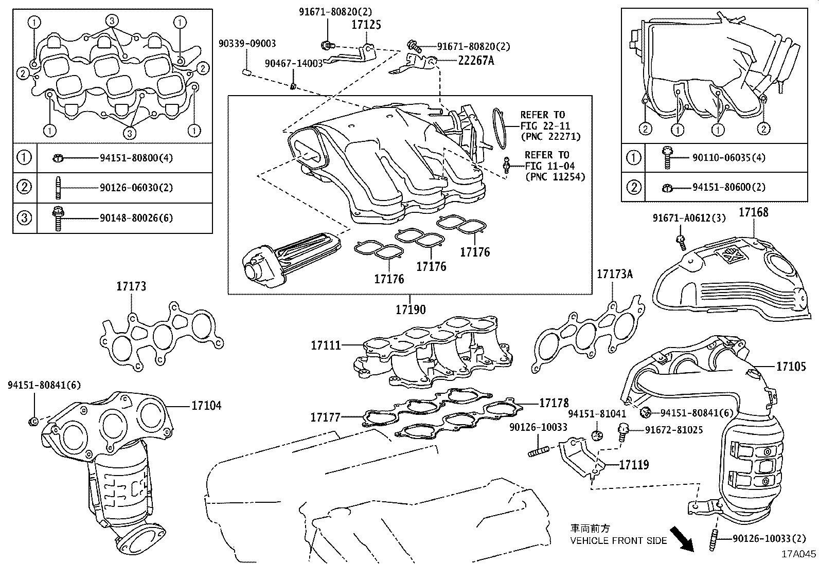 Lexus Es 350 Engine Intake Manifold Gasket