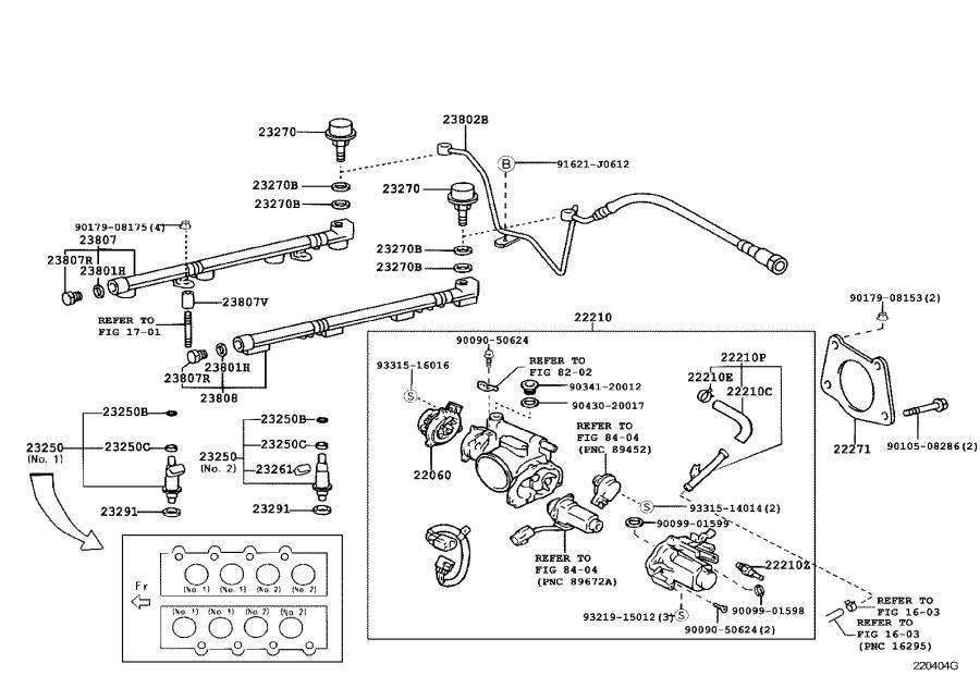Lexus GS 300 Body assembly, throttle. Fuel, system ...