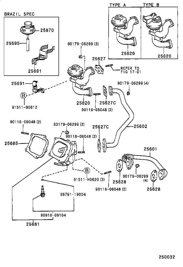 Lexus Es 300 Egr Valve  System  Exhaust  Make