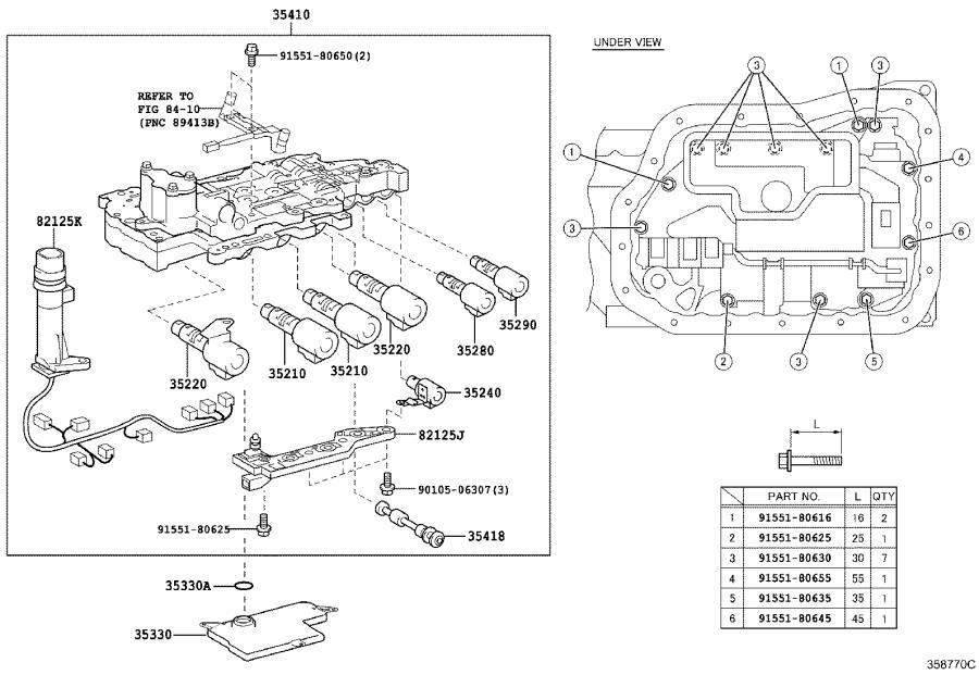 Lexus Es 350 Wire  Transmission  Driveline