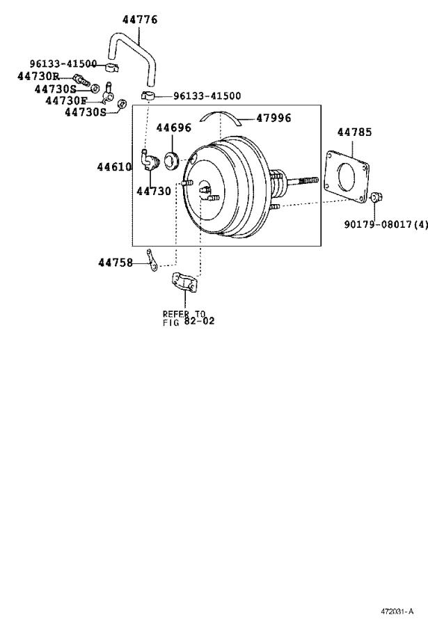 Lexus Is 300 Hose  Brake Booster  Vacuum  Tube  Suspension