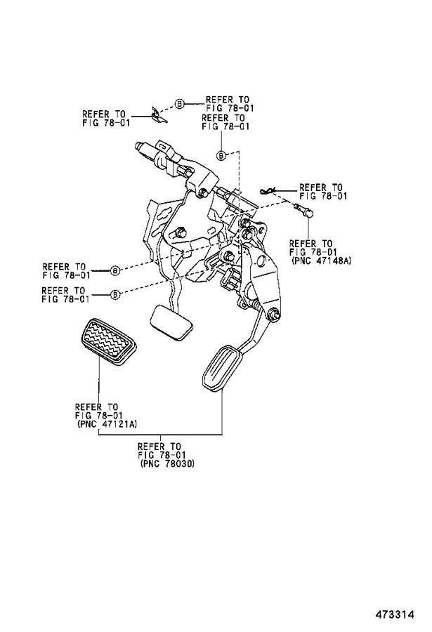 Lexus Es 330 Pedal Sub-assembly  Brake  Adjustable  Power  Suspension