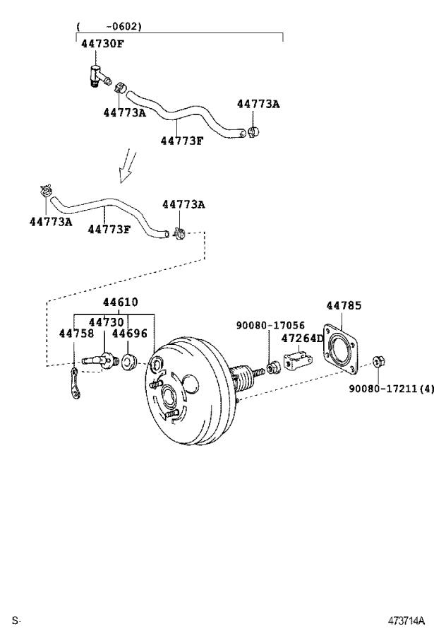 Lexus Rx 330 Hose  Union To Check Valve