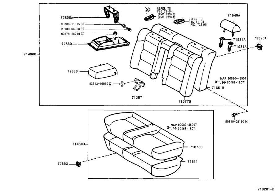 Lexus Es 300 Headrest Guide  Front  Rear