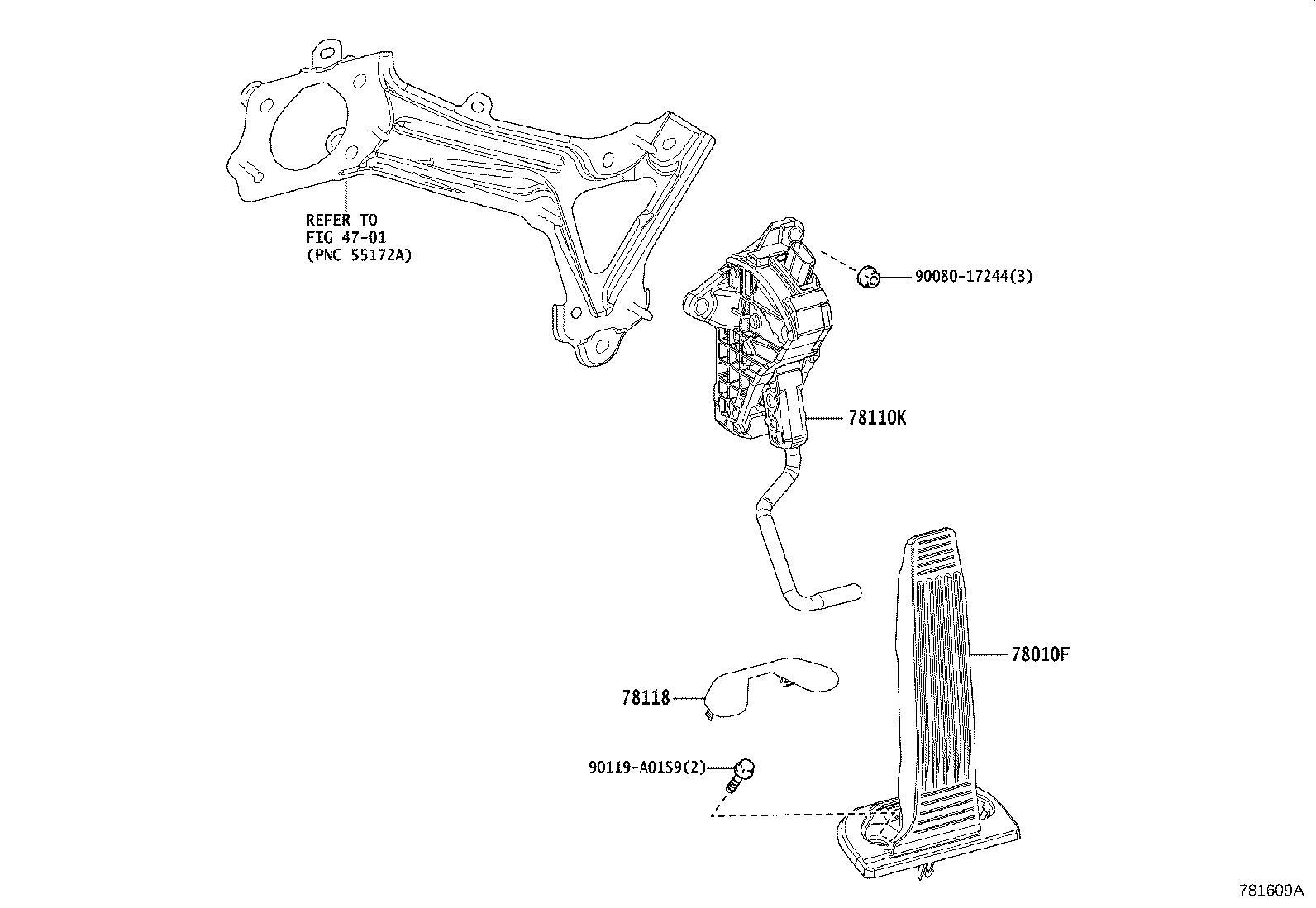 Lexus Es 300h Accelerator Pedal Sensor