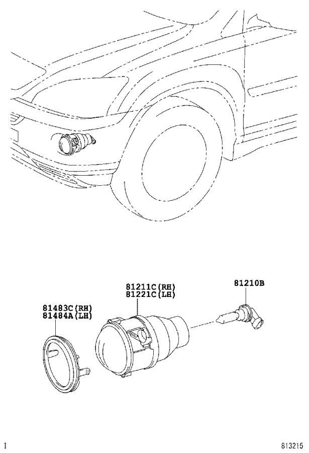 Lexus Rx 400h Lamp Unit  Fog Lamp  Right  Lighting