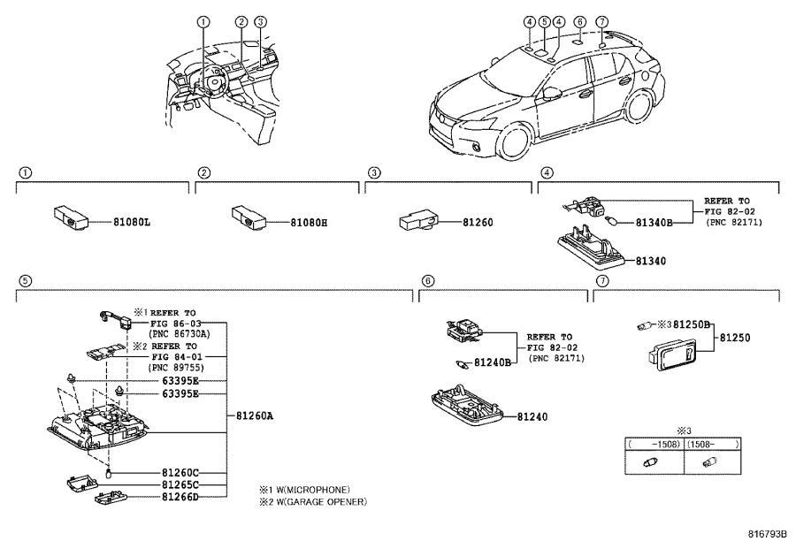 Lexus Ct 200h Lamp Assembly
