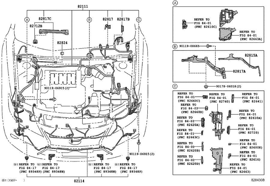 Lexus Es 300h Wire  Luggage Room  No  1  Engine  Door