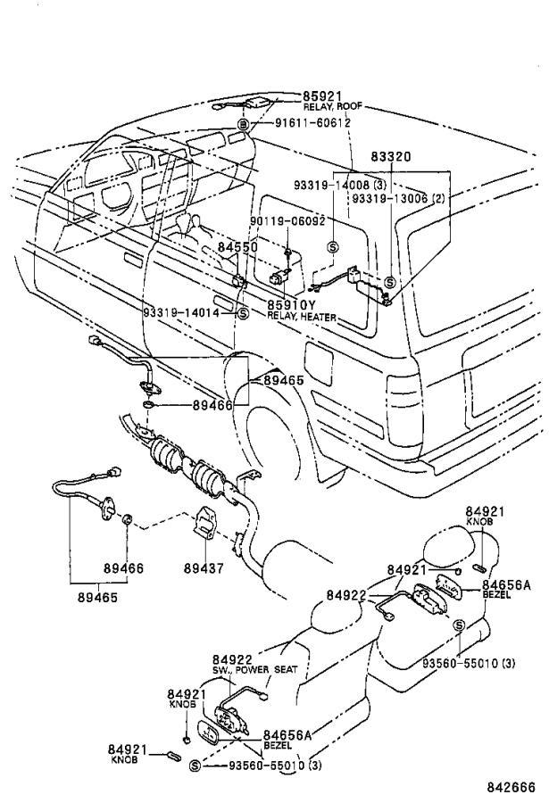 Lexus LX 450 Headlight Dimmer Switch. Switch, HeadLAM ...