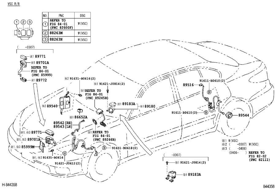 Lexus Es 330 Suspension Yaw Sensor  Sensor  Yawrate