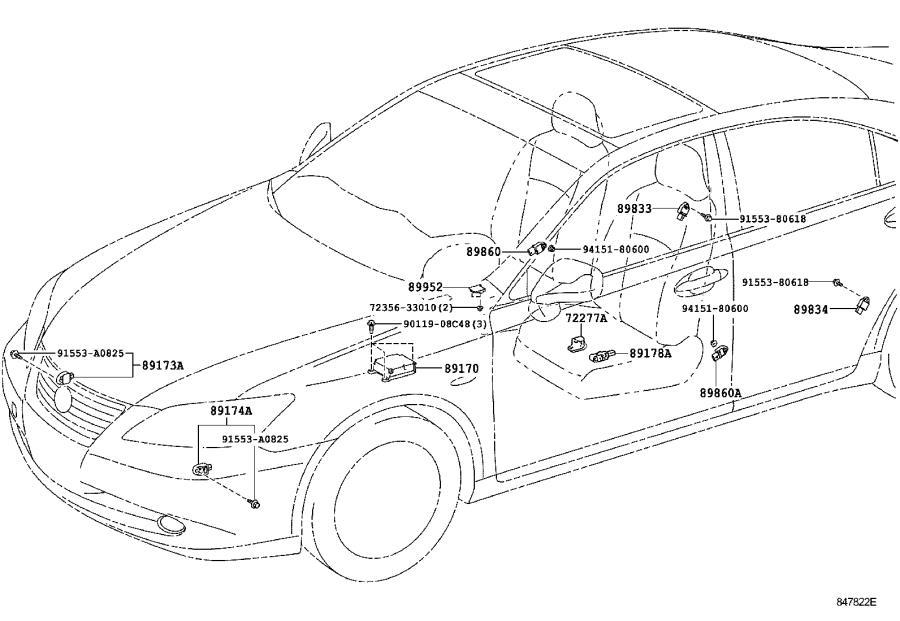 lexus es 350 protector  seat slide position sensor  driv