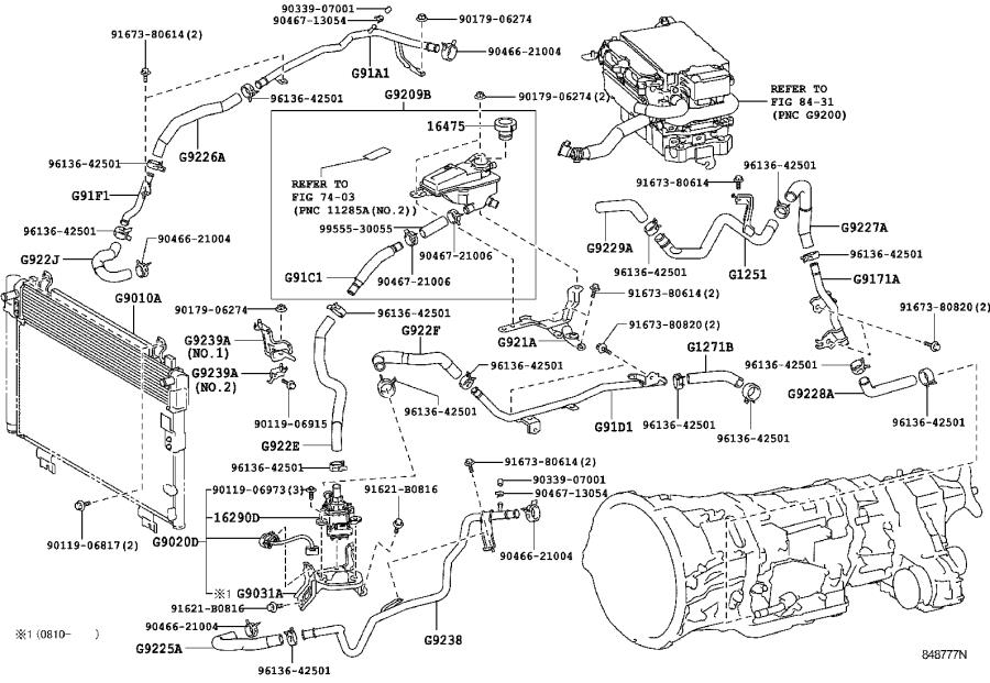 Lexus Ls 600h L Pump Assembly  Water With Motor  U0026 Bracket
