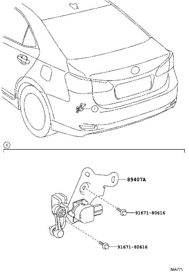 Lexus Hs 250h Sensor Sub-assembly  Height Control  Rear Right