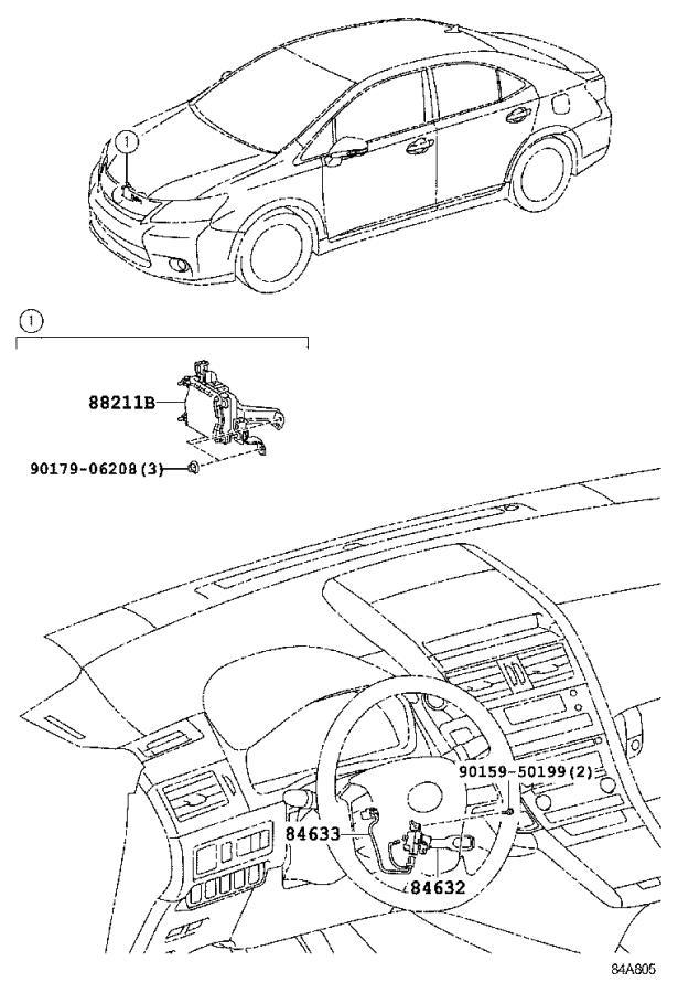 Lexus Hs 250h Wire  Cruise Control Switch  Milli  Swich  Cdchanger