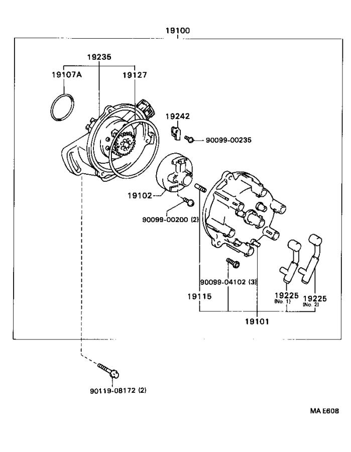 Ford 300 Distributor Diagram