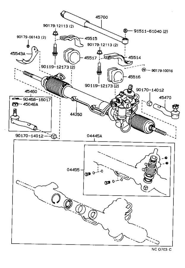 lexus ls 400 bolt for power steering pressure control valve   suspension  brakes