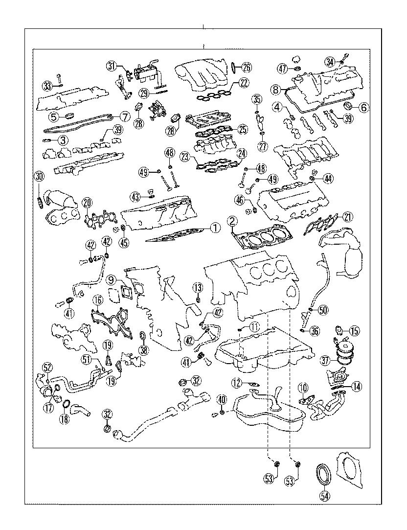 Lexus Es 350 Engine Gasket Set  Gasket Kit  Engine
