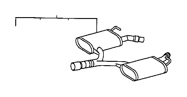 lexus ls 400 pipe assembly  exhaust  center  engine