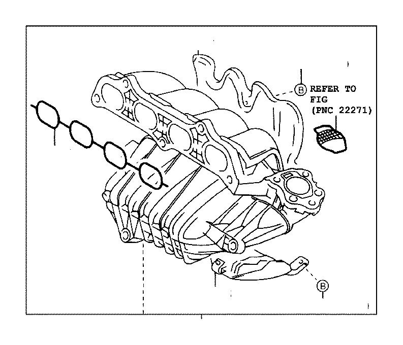 Lexus Hs 250h Engine Intake Manifold Insulator  Insulator  Intake Manifold  No 2