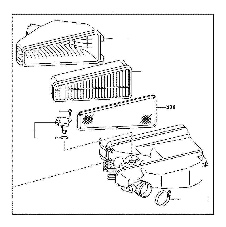 Lexus GS 350 Mass Air Flow Sensor. Meter, Intake Air Flow