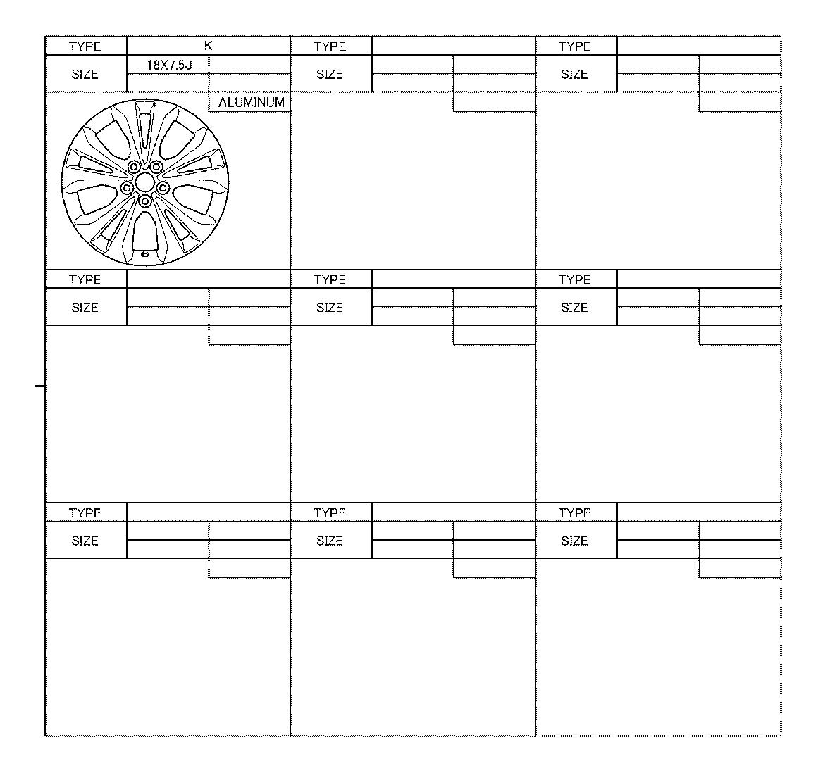 Lexus NX 200t Wheel, Disc. Tire, Summer, Spec