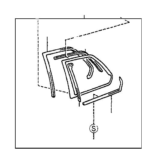 lexus ls 400 moulding assembly  rear door belt  left  side  interior  body