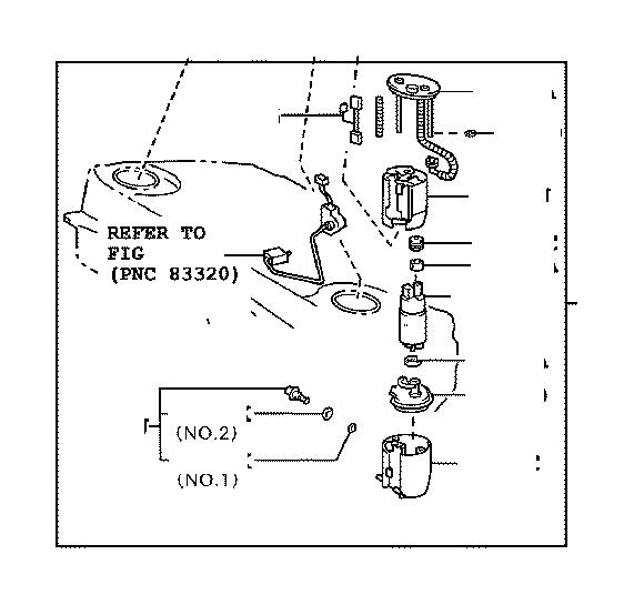 Lexus GS 350 Filter, Fuel Pump. Tank, Tube
