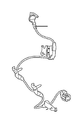 Lexus Nx 300h Wire  Skid Control Sensor  Rear Left No  1